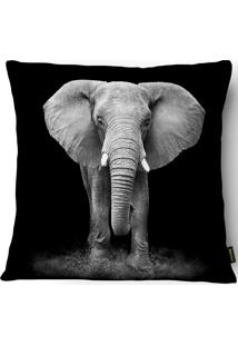 Capa Para Almofada Silk Home Industrial Elefante 43X43Cm - Belchior - Preto