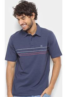 Camisa Polo Hang Loose Ocean Masculina - Masculino-Marinho