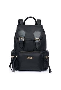 Bolsa Feminina Preta Bag`S Cavalera C/ Fivela