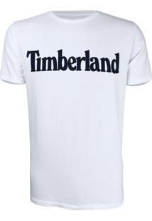 Camiseta Timberland Masculina Ss Kenn - Masculino-Branco+Preto