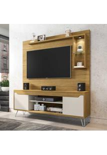 Estante Para Tv Até 52 Polegadas 2 Portas 4 Prateleiras Gabbana 2075346 Cinamomo/Off White - Bechara Móveis