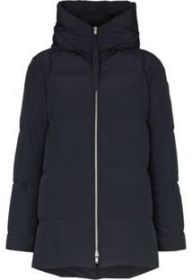 Jil Sander Hooded Puffer Jacket - Azul