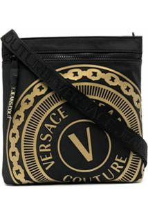 Versace Jeans Couture Logo-Embossed Zipped Bag - Preto