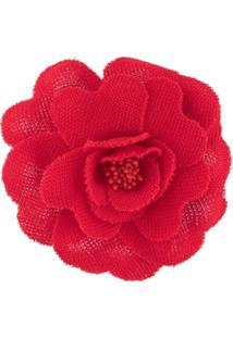 Philosophy Di Lorenzo Serafini Flower Appliqué Brooch - Vermelho