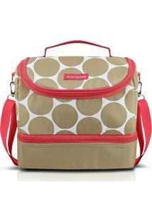 Bolsa Térmica Com 2 Compartimentos Jacki Design Dots Bege - Kanui
