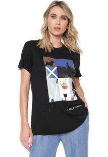 Camiseta Lança Perfume Aplicações Preta