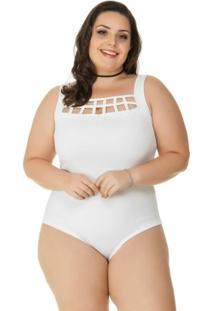 f7593b9c5 ... Body Plus Size Com Decote Vazado Miss Masy - Feminino
