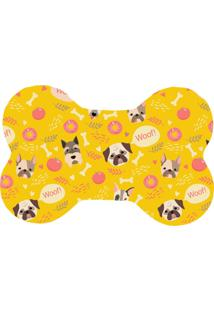 Tapete Love Decor Pet Wevans Woof Woof Amarelo