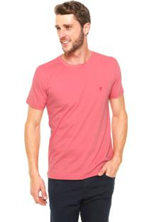 Camiseta Polo Wear Bordado Rosa