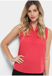 Camisa Regata We Are The Basic Bolso Feminina - Feminino-Coral