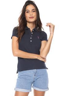 Camisa Polo Aleatory Logo Azul-Marinho