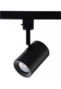 Spot Para Trilhos Beam Dicróica 15,5Cmx6,5Cm Bella Iluminação - Caixa Com 2 Unidade - Preto