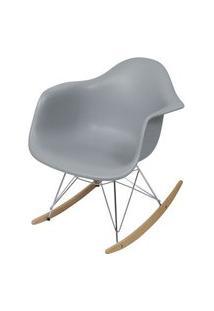 Cadeira Eames Com Braco Base Balanco Cinza Fosco - 43637 Cinza