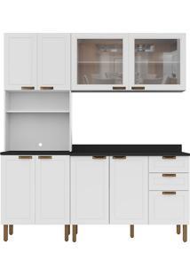 Cozinha Modulada 4 Peças Com Tampo E Nevada 5904Vdtp-Multimóveis - Branco Premium