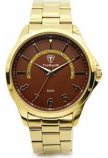 Relógio Tuguir Analógico 5021 - Feminino-Dourado