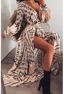 Vestido Longo Estampa Valentino Mullet