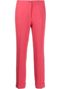 Etro Turned-Up Tapered-Leg Trousers - Rosa