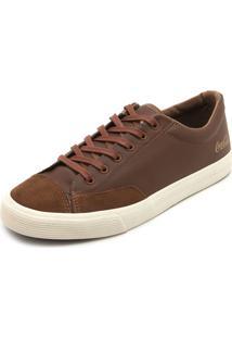 Tênis Couro Coca Cola Shoes Fosco Marrom