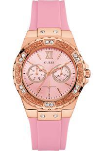 Relógio Guess Feminino Borracha Rosé - W1053L3