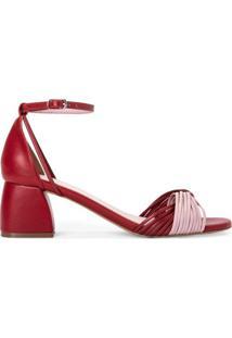 Sandália Salto Baixo Com Tiras