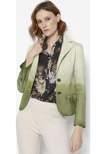 Blazer Degradãª- Verde Claro & Verde- Cotton Colors Ecotton Colors Extra