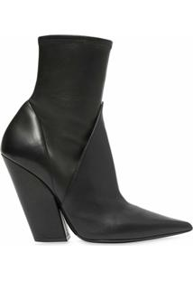 Burberry Ankle Boot Com Recortes - Preto