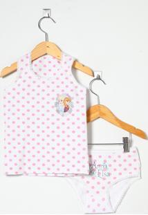 Conjunto Blusa E Calcinha Branca - G