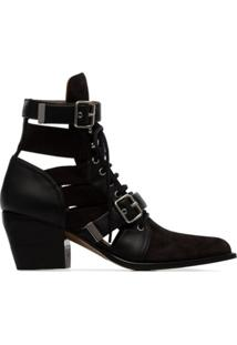 Chloé Ankle Boot Rylee - Preto