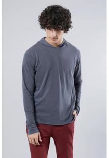 Camiseta Ml Leve A Fio Reserva Masculina - Masculino-Cinza