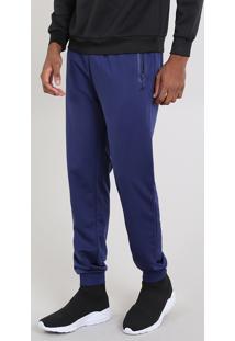 Calça Masculina Esportiva Ace Em Moletom Azul