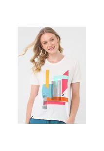 Camiseta Cantão Color Block Off-White