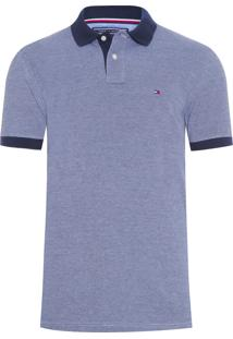 Polo Masculina Ec Essential Oxford - Azul