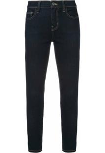 Current/Elliott Calça Jeans Skinny Cropped Stretch - Azul