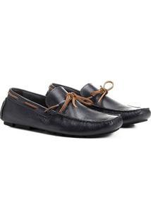 Mocassim Shoestock Amarração Couro Masculino - Masculino