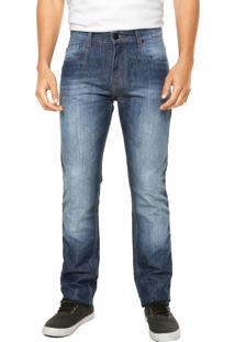 Calça Jeans Quiksilver Reta New Time Azul