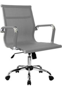 Cadeira Office Byartdesign Esteirinha Tela Cinza - Cinza - Dafiti