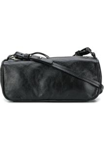 By Far Textured Mini Shoulder Bag - Preto