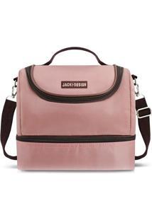 Bolsa Térmica Com Divisórias- Rosa Claro Marrom Escurojacki Design