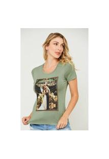 T-Shirt Feminina Juliet And Romeu Verde