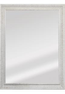 Espelho Retangular Moldura De Madeira Cartagena 82X62Cm