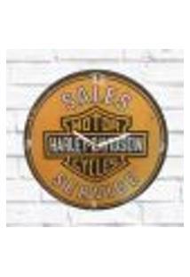 Relógio Parede Sala Decorativo Harley Vintage Pulso 30X30X2Cm