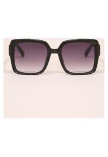 Óculos De Sol Feminino Quadrado Yessica Preto
