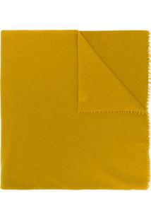 Faliero Sarti Cachecol Oversized De Cashmere Com Franjas - Amarelo