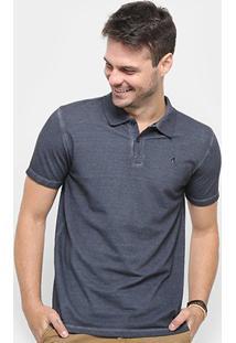 Camisa Polo Replay Sublime Estonada Masculina - Masculino-Marinho