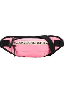 A.P.C. Pochete Com Estampa De Logo - Rosa