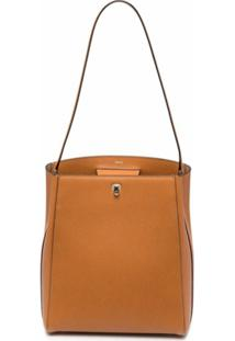 Valextra Brera Leather Shoulder Bag - Marrom