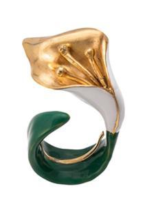 Oscar De La Renta Anel Em Forma De Flor - Verde
