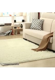 Tapete New Shaggy- Off White- 150X100Cm- Camesacamesa