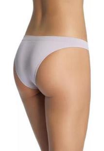 Calcinha Sem Costura Lupo Básica - Feminino-Branco