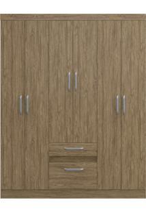 Guarda-Roupa 6 Portas 2 Gavetas C/ Espelho Ágata Decibal Moveis Wood
